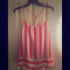 Banana Republic Size 12 orange striped tank